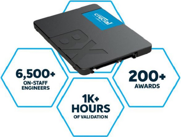 Micron (crucial) Crucial Bx500 2tb 2.5in Sata3 6gb/s Ssd - 3d Nand 540/500mb/s 7mm  (CT2000BX500SSD1)