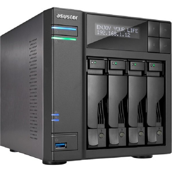 Asustor 4-bay Nas Intel Core I3 3.5 Ghz Dual-core 2gb Ddr3 Gbe X 2 Hdmi S (AS7004T)