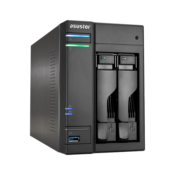 Asustor 2-bay Nas Intel Celeron Quad-core 4 Gb So-dimm Ddr3l Gbe X 2 Usb  (AS6202T)