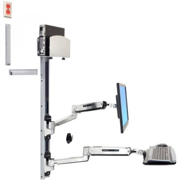 ERGOTRON Lx Sit Stand Wall Mount System Med 45-358-026