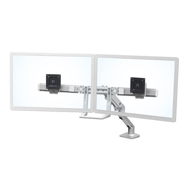 ERGOTRON Hx Desk Dual Monitor Arm Silver 45-476-231