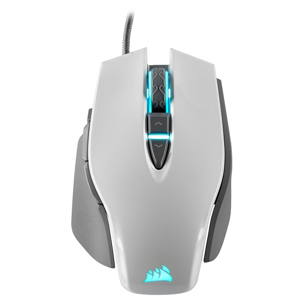 Corsair M65 Rgb Elite Tunable Fps Gaming Mouse White With Black 18000 Dpi (CH-9309111-AP)