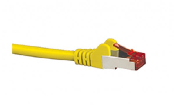 Hypertec Cat6a Shielded Cable 0.5m Yellow Color 10gbe Rj45 Ethernet Networ (HCAT6AYL0.5)