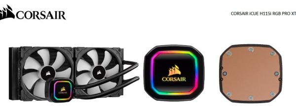 Corsair Hydro H115i Rgb Pro Xt 280mm Liquid Cpu Cooler. Intel 1150x 2011  (CW-9060044-WW)