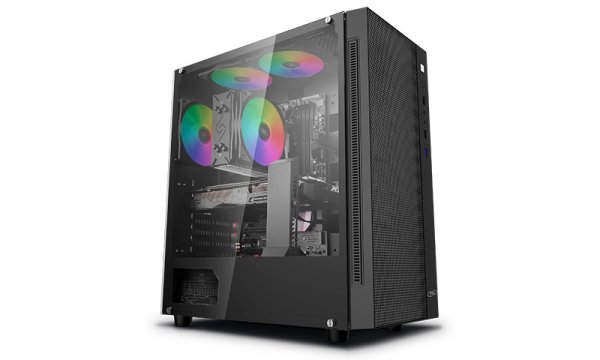 Deepcool Deepcool Atx Minimalist Tempered Glass Case Fits E-atx Mb. (MATREXX 55 MESH)