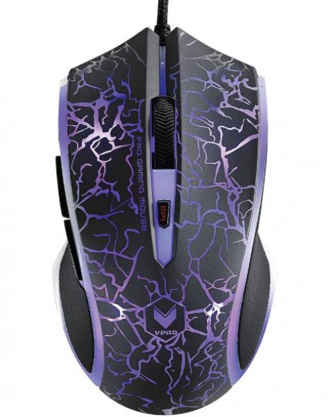 Rapoo V20s Led Optical Gaming Mouse Lighting Black - Upto3000dpi 16m Co (V20SLighting-Black)