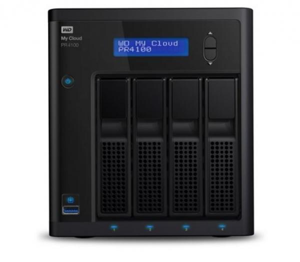 Western Digital Wd Cloud Pr4100 Pro Series 4-bay 24tb Nas - 1.6ghz Quad-core Cpu4 (WDBNFA0240KBK-SESN-X)