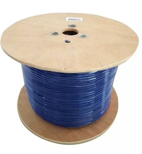 8ware 8ware Cat6a Underground/external Shield Cable Roll 350m Blue Bare (CAT6A-EXT350BLUSH)