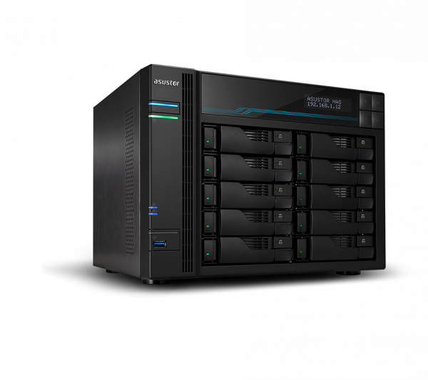 Asustor Ba- Lockerstor 10 10 Bay Dual Intel 10gbe M.2 Ssd Cache And 2.5gb (AS6510T)