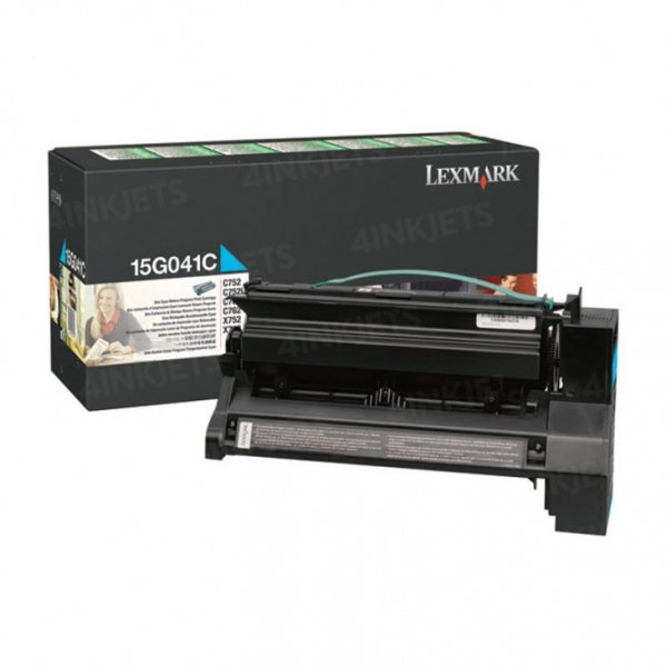 Lexmark Cyan (prebate) Toner Yield 6000 Pages For C752 760 762 (15G041C)