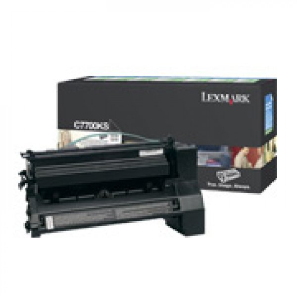 Lexmark Black Toner Prebate Yield 6000 Pages For C772 (C7700KS)