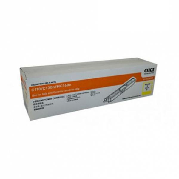 Oki Cyan Toner Cartridge For C110 130n Mc160 Yield 1500 Pages (44250703)