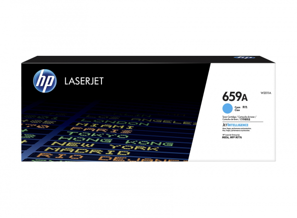 Hewlett Packard Hp 659a Cyan Laserjet Toner Cartridge For M776 M856 - 13k (W2011A)