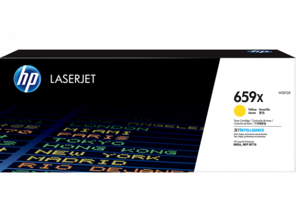 Hewlett Packard Hp 659x Yellow Laserjet Toner Cartridge For M776 M856 - 29k (W2012X)