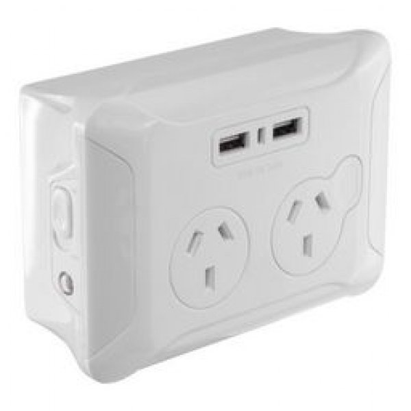 Eversure Clip Over Wall Plate 2x Usb And 2x Ac Gpo (CWP1022)