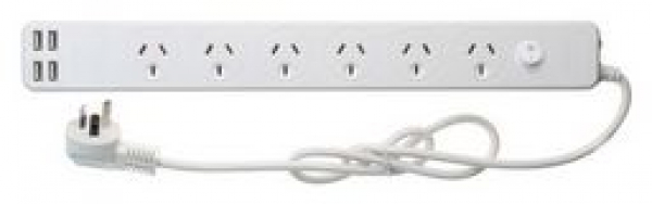 Jackson 6 Outlet Surge Protected Powerboard + Usb Charging (PT5966USB3A)