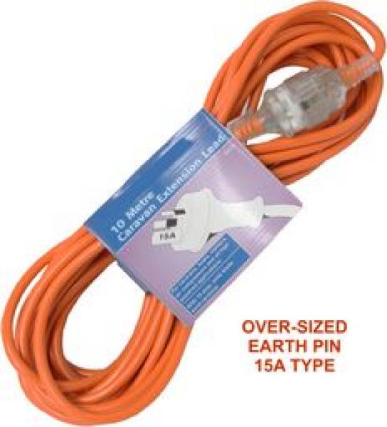 Arlec Safety Orange 15a Caravan Power Extention Lead CEL10)