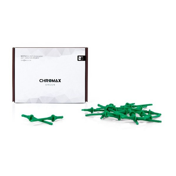 Noctua Green Chromax Na-sav2 Anti Vibration Mounting Bolts (20 Pack) (NA-SAV2-GREEN)