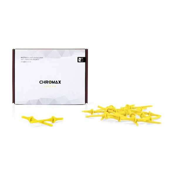 Noctua Yellow Chromax Na-sav2 Anti Vibration Mounting Bolts (20 Pack) (NA-SAV2-YELLOW)