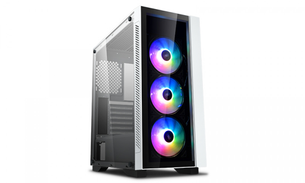 Deepcool Tempered Glass Case White Colour Supports E-atx Mb W/ 3  (MATREXX 55 V3 ADD-RGB WH 3F)