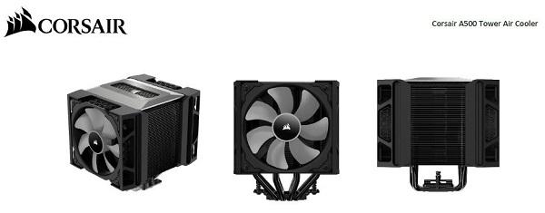 Corsair A500 Tower Dual Fan Air Cpu Cooler. Ml120 Pwm Fan X 2. Intel Lga  (CT-9010003-WW)