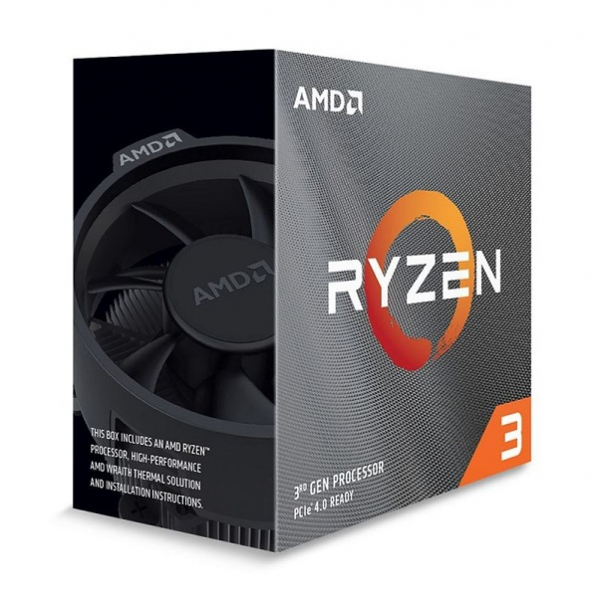Amd Ryzen 3 3100 4-core/8 Threads Am4 Cpu Max Freq 3.9ghz 18mb Cache  (100-100000284BOX)