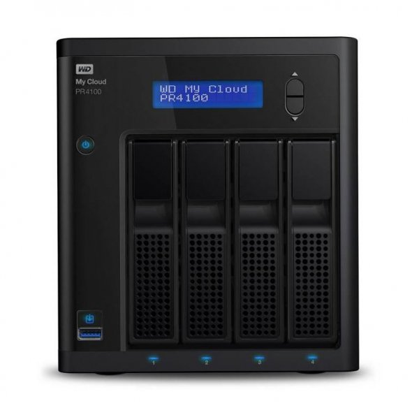 Western Digital Elements 0tb My Cloud Pro Pr4100 Nas - Black Plug & Play For W (WDBNFA0000NBK-SESN)