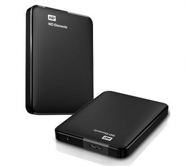 Western Digital Elements Portable 1tb Usb 3.0 2.5 External Hard Drive - Slim  (WDBUZG0010BBK-WESN)