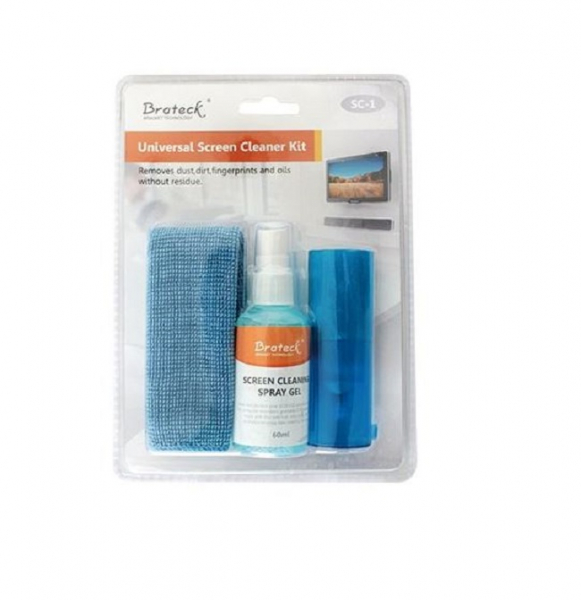 Brateck 3-in-1 Screen Cleaner Kit 1 X 60ml Screen Cleaner + 1 X 200x200mm (SC-1)