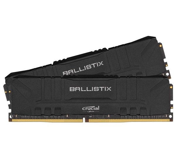 Crucial Ballistix 64gb (2x32gb) Ddr4 Udimm 3200mhz Cl16 Black Alu (BL2K32G32C16U4B)