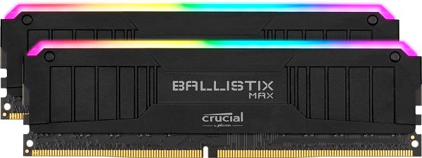Crucial Ballistix Max Rgb 16gb (2x8gb) Ddr4 Udimm 4000mhz Cl18 Bl (BLM2K8G40C18U4BL)