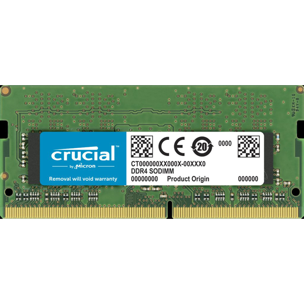 Crucial 32gb (1x32gb) Ddr4 Sodimm 2666mhz Cl19 1.2v Pc4-21300 Dua (CT32G4SFD8266)