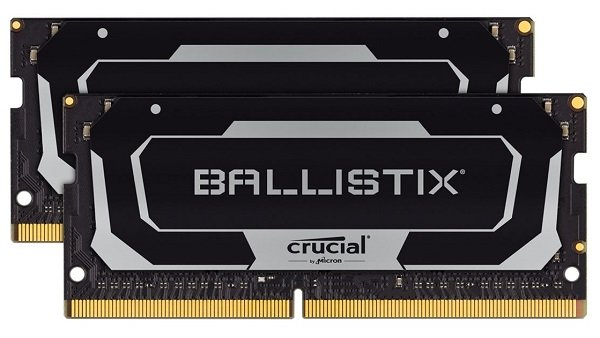 Crucial Ballistix Sodimm 64gb (2x32gb) Ddr4 Sodimm 3200mhz Cl16 B (BL2K32G32C16S4B)