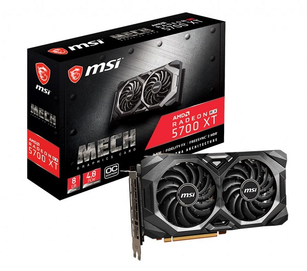 Msi Amd 8gb Gddr6 Pcie Graphic Card 7680x4320 4xdisplays 3xdp Hdmi 19 (Radeon RX 5700 XT MECH OC)