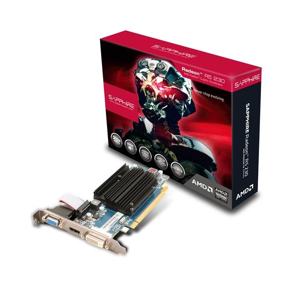Sapphire Amd R5 230 2g Ddr3 Pci-e Hdmi / Dvi-d / Vga (uefi) Vga Card Lp Br (11233-02-20G)