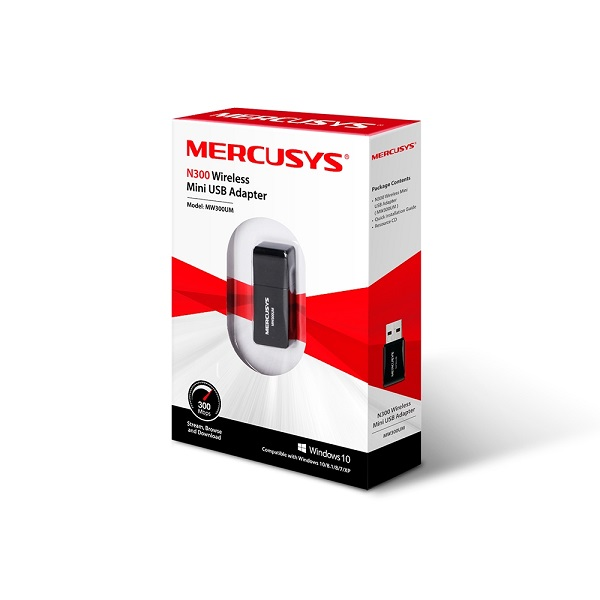 TP-link Mercusys N300 Wireless Mini Usb Adapter 3yr MW300UM