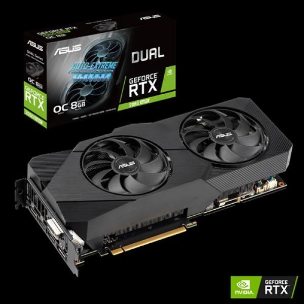 Asus Nvidia Super Dual-rtx2060s-o8g-evo V2 Dual Geforce Rtx 2060s Evo  DUAL-RTX2060S-O8G-EVO-V2