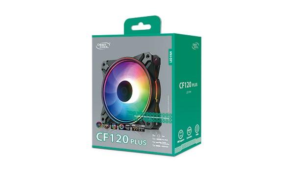 Deepcool Cf 120 Plus 3 In 1 Customisable Addressable Rgb Led Ligh DP-F12-AR-CF120P-3P
