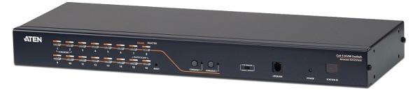 Aten 2 Console 16 Port Rackmount Cat5 Matrix Kvm Switch With Daisy Cha KH2516A-AX-U
