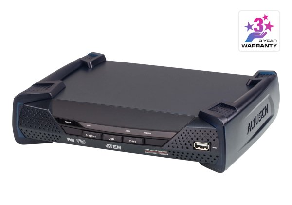 Aten Dvi Dual Link Kvm Over Ip Receiver With Dc Power + Power Over Eth KE6912R-AX