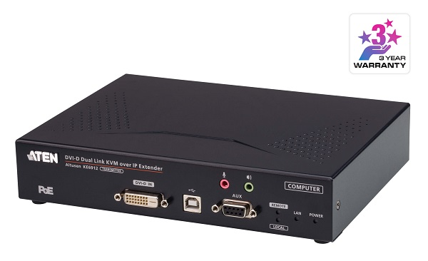 Aten Dvi Dual Link Kvm Over Ip Transmitter With Dc Power + Power Over  KE6912T-AX
