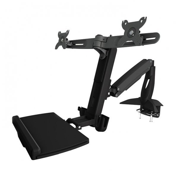 Aavara Dual Sit-stand Workstation Combo Clamp (up To 24inch) WS742