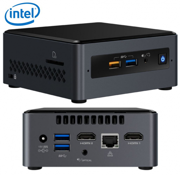 Intel Nuc Mini Pc J4005 2.7ghz 2xddr4 Sodimm 2.5' Hdd 2xhdmi 2xdisplays BOXNUC7CJYH