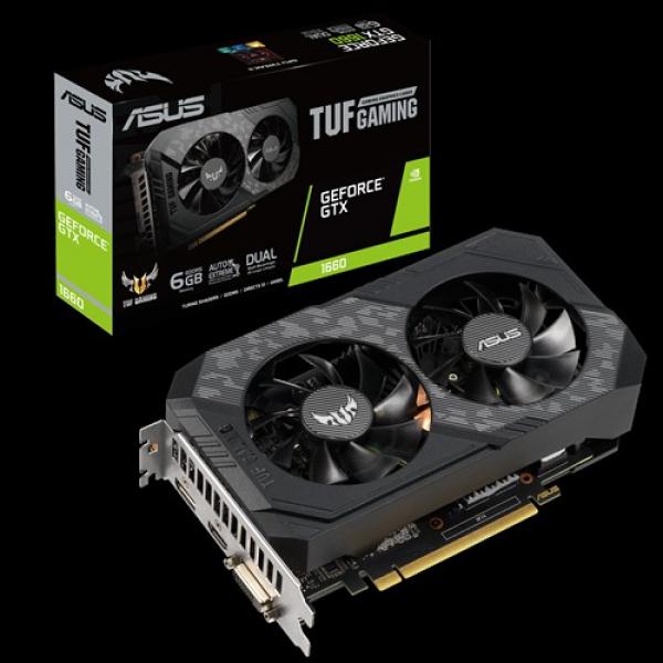 Asus Nvidia Geforce Gtx1660 6gb Gddr5 1x Dp 1x Hdmi 1x Dvi-d 3 Fan TUF-GTX1660-6G-GAMING