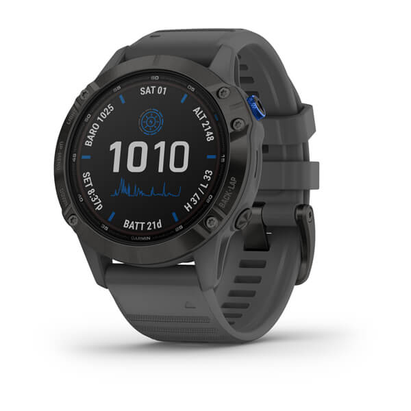 Garmin Fenix 6 - Pro Solar Edition Black With Slate Grey Band 010-02410-12