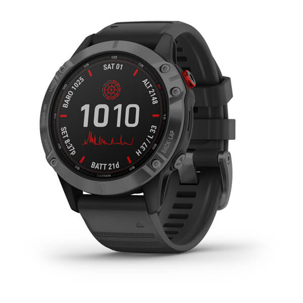 Garmin Fenix 6 - Pro Solar Edition Slate Grey With Black Band 010-02410-16