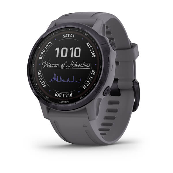 Garmin Fenix 6s - Pro Solar Edition Amethyst Steel With Shale Grey Band 010-02409-16