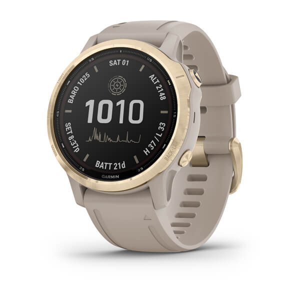 Garmin Fenix 6s - Pro Solar Edition Light Gold With Light Sand Band 010-02409-12