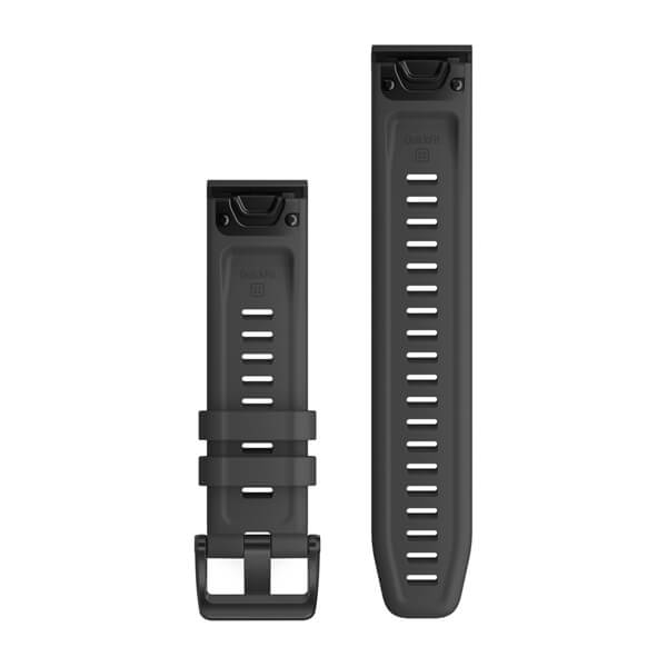 Garmin Quickfit 22 Watch Bands Slate Grey Silicone With Black Hardware 010-12863-22