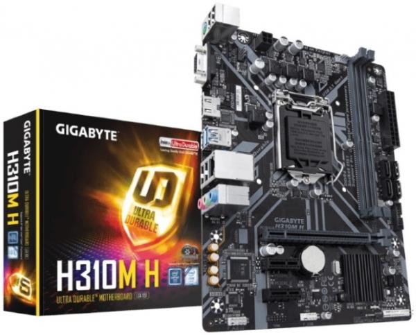 Gigabyte Ga-h310m H V2.0 Lga1151 8gen Matx Mb 2xddr4 3xpcie Vga Hdmi 4xsat GA-H310M-H 2.0